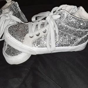 Gap High Top Glitter Tennis Shoes